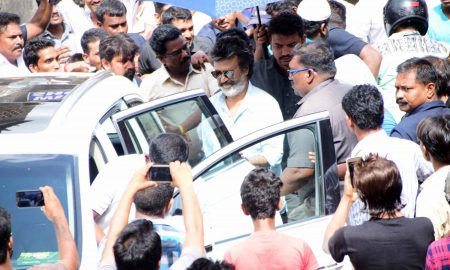 Rajnikanth spotted at Wadala in Mumbai