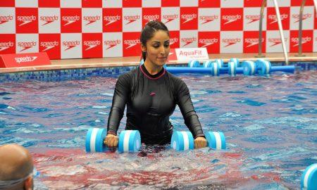 Yami Gautam at Underwater Fitness Training Programme