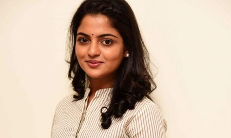Actress Nikhila Vimal Stills From Meda Meedha Abbayi Movie Promotions