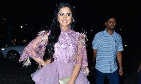 Manasa Himavarsha at Jio Filmfare Awards South 2018